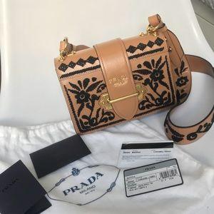 1c17b5c356f2 Prada Bags - Prada Embroidered Madras Cahier